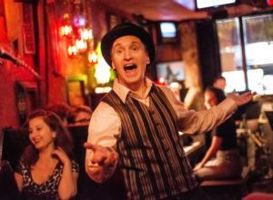 "BROOKLYN, NY - NOVEMBER 14: Opera on Tap performing ""Smashed"" at Freddy's Bar in Brooklyn, NY on November 14, 2013. Photo Credit: Laura Thompson"